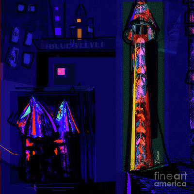 Digital Art - La Vie Nocturne No.4 by Zsanan Narrin