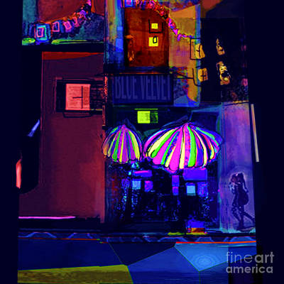 Digital Art - La Vie Nocturne No. 1 by Zsanan Narrin