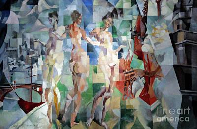 Abstract Montage Painting - La Ville De Paris by Art Anthology