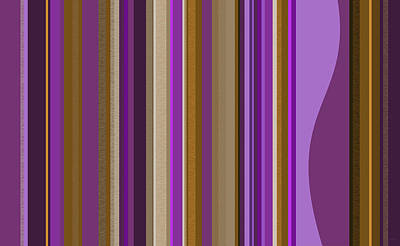 Large Purple Abstract - Two Art Print