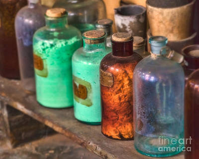 Alchemistic Photograph - Lab Bottles by Jerry Fornarotto