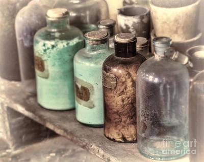 Lab Bottles Tinted Art Print