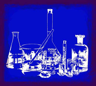 Labs Digital Art - Lab Glass by Daniel Hagerman