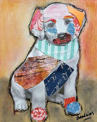 Puppies Mixed Media - Laby Love  by Theresa Bendzius