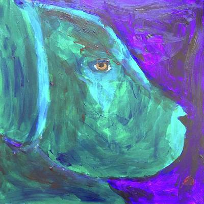 Painting - Lab Puppy by Donald J Ryker III