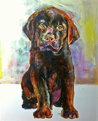 Painting - Lab Puppy by Maxim Komissarchik