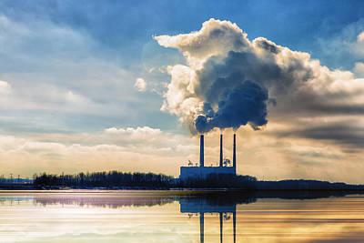 Lanscape Digital Art - Labadie Power Station  by Bill Tiepelman