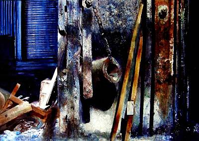 Painting - Label In A Factory by David  Poxon