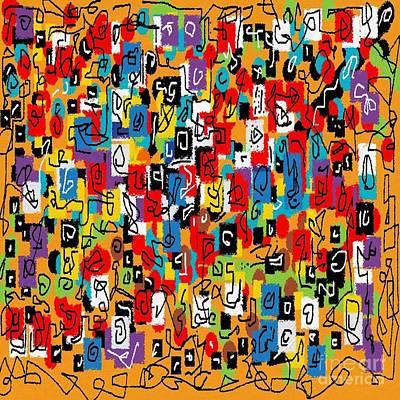 Eliso Digital Art - Laberinto Multicolor by Eliso Ignacio Silva
