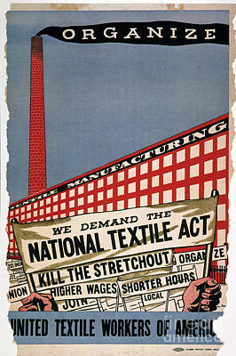 Labor Union Photograph - Labor Poster, 1935 by Granger