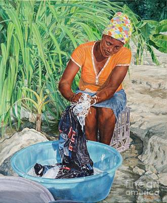 Painting - Labour Of Love by Roshanne Minnis-Eyma