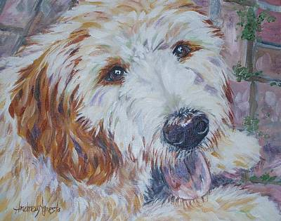 Mixed Labrador Retriever Painting - Labradoodle by Andrea Agresta