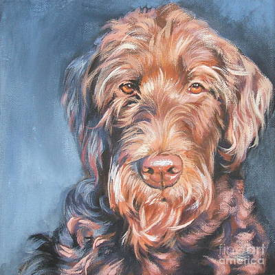 Painting - Labradoodle by Lee Ann Shepard