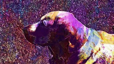 Labrador Digital Art - Labrador Dog Animal Pet Doggy  by PixBreak Art