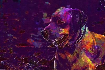 Labrador Digital Art - Labrador Dog Happiness Animal  by PixBreak Art