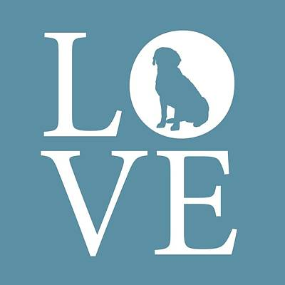 Labrador Love Print by Nancy Ingersoll