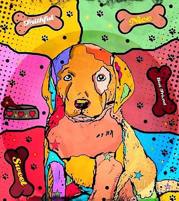 Labrador Digital Art - Labrador Popart By Nico Bielow by Nico Bielow