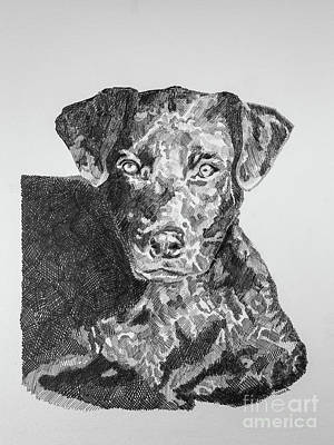 Lovers Artwork Drawing - Labrador Portrait by Robert Yaeger