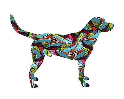 Labrador Digital Art - Labrador Retriever 2 Spirit Glass by Gregory Murray