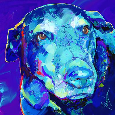 Chocolate Labrador Retriever Painting - Labrador Retriever 3 by Jackie Jacobson