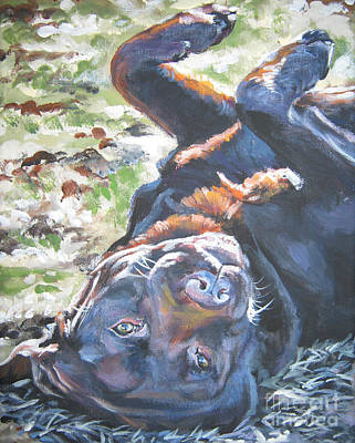 Painting - Labrador Retriever Chocolate Fun by Lee Ann Shepard