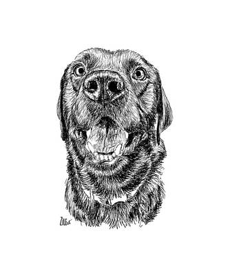 Digital Art - Labrador Retriever @my_little_lump_of_coal by ZileArt