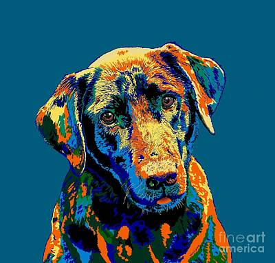Digital Art - Labrador Retriever Of Many Colors Iv by Dale E Jackson