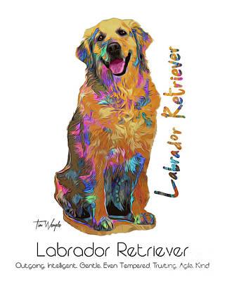 Digital Art - Labrador Retriever Pop Art by Tim Wemple