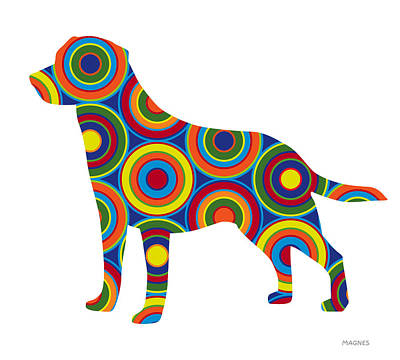 Dog Abstract Art Digital Art - Labrador Retriever by Ron Magnes