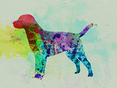 Colorful Painting - Labrador Retriever Watercolor by Naxart Studio