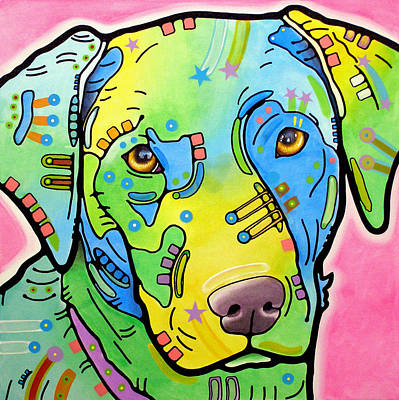 Canines Mixed Media - Labrador Vintage by Dean Russo