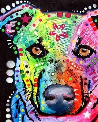 Lab Mixed Media - Labradorish by Dean Russo