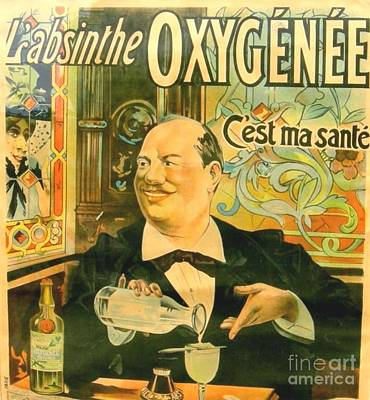 Painting - L'absinthe Oxygenee by Reproduction