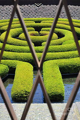 Photograph - Labyrinth At The Getty by Clayton Bruster