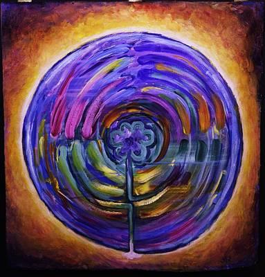 Mandala Labyrinth Original by Sage Boyd