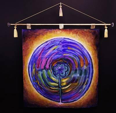 Sri Yantra Painting - Labyrinth Mandala by Sage Boyd