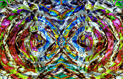 Brain Painting - Labyrinth Of The Mind  by Jolanta Anna Karolska