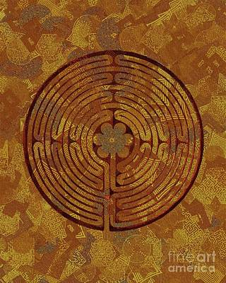 Maze Art Painting - Labyrinth by Pierre Blanchard