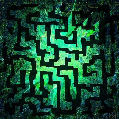 Mindscape Digital Art - Labyrinth by Rachel Christine Nowicki