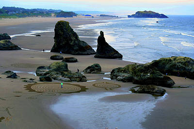 Photograph - Labyrinths At Bandon Beach by Michele Avanti