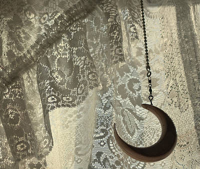 Lace And Crescent - Antiqued Art Print by ShaddowCat Arts - Sherry
