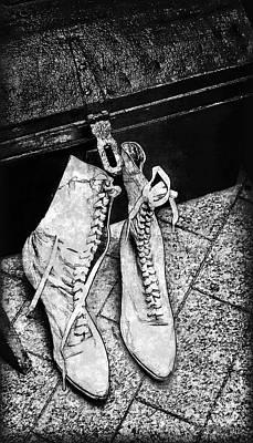 Lace Boots Print by Joan  Minchak