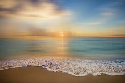 Photograph - Lace Edged Turquoise Sea Dreamscape by Debra and Dave Vanderlaan