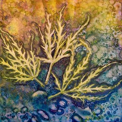 Painting - Lace Leaves by Nancy Jolley
