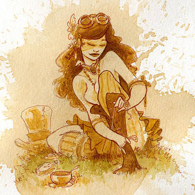 Steampunk Wall Art - Painting - Laces by Brian Kesinger