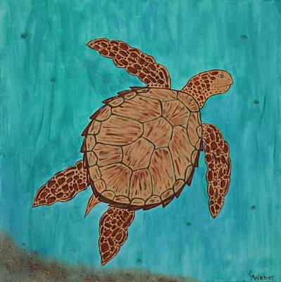 Painting - Lacey's Sea Turtle by Susie WEBER