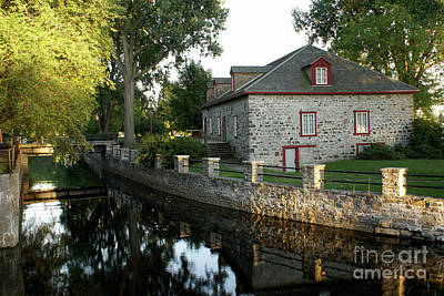 Lachine Canal Montreal Quebec Art Print by John  Mitchell
