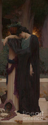 Shrine Painting - Lachrymae by Frederic Leighton