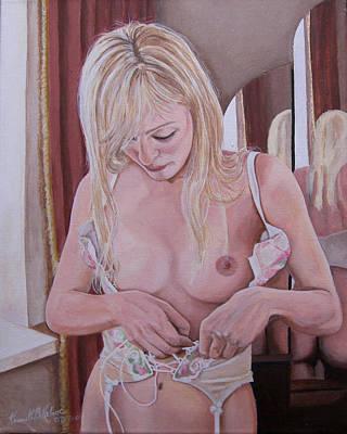 Lacing Corset Art Print by Kenneth Kelsoe