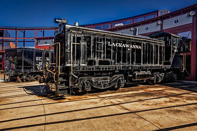 Photograph - Lackawanna D.l. And W. Train Bw by Susan Candelario